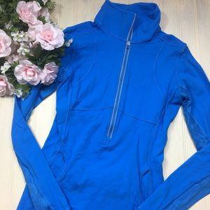 Lululemon Blue Lace & Ruffle Jacket